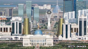 Aerial view of the city of Astana