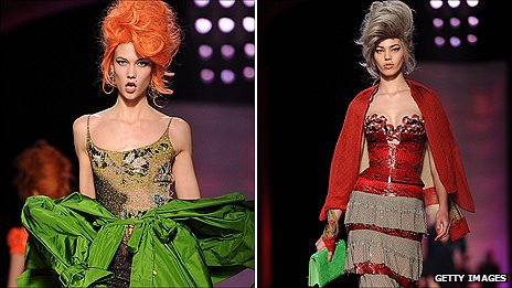 Models from Gaultier's Spring Summer 2012 Haute Couture fashion collection