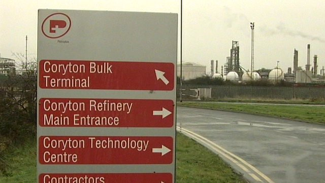 Coryton oil refinery