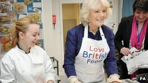 Duchess of Cornwall launching Cook for the Queen