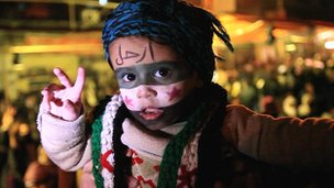 A child with painted face
