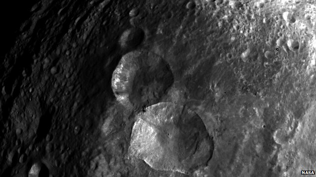 Close-up of asteroid Vesta