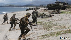 File photo of Philippines-US joint military exercises