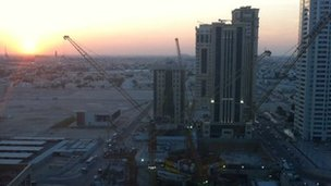 Construction site in Doha