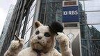 A 'fat cat' protester
