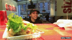 Smashburger worker at a branch in Brooklyn