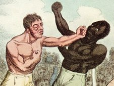 1811: English prize fighter Tom Cribb (left) beats Virginian Tom Molineaux