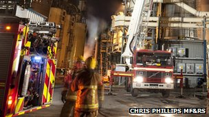 Fire at Sonae plant