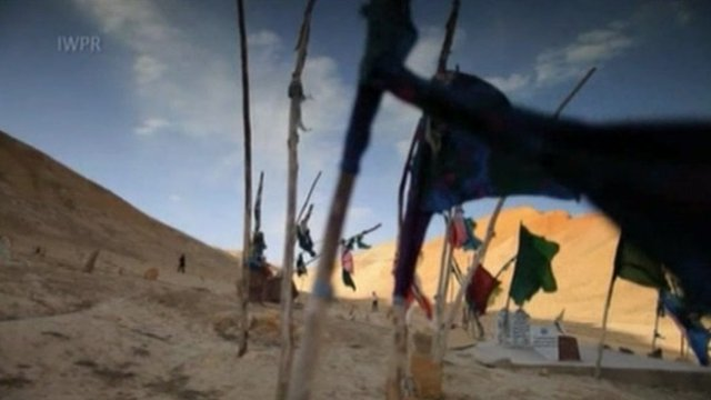 """A scene from the Afghan film: """"The forgotten victims""""."""