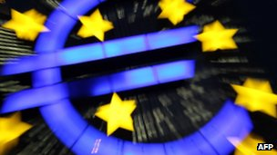 The euro logo