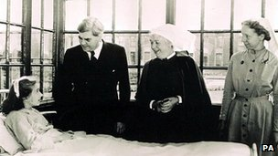 Aneurin Bevan visits the first NHS hospital