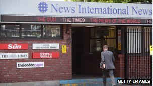 News International's offices at Wapping, east London