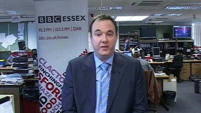 Dr Shane Gordon in the BBC's Chelmsford studio