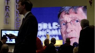 Bill Gates on a big screen