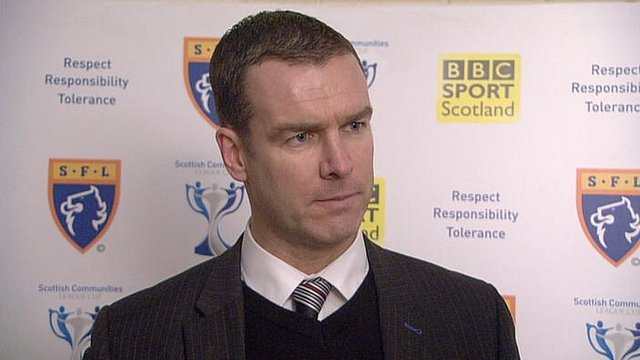 Ayr United manager Brian Reid