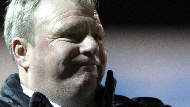 Crawley boss Steve Evans