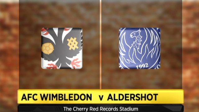 AFC Wimbledon 1-2 Aldershot