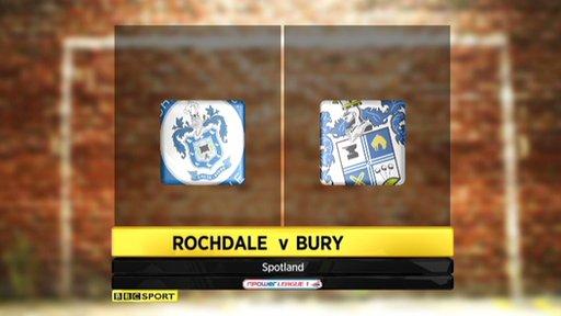 Rochdale 3-0 Bury