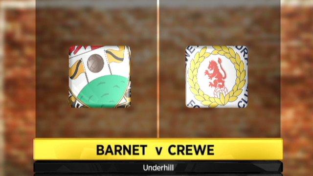 Barnet 2-0 Crewe