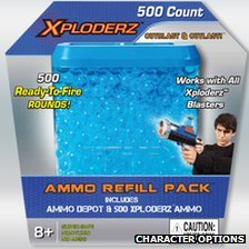 Xploderz toy gun ammunition