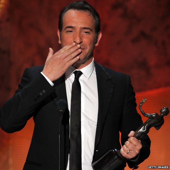 Bbc news in pictures sag awards for Jean dujardin autographe