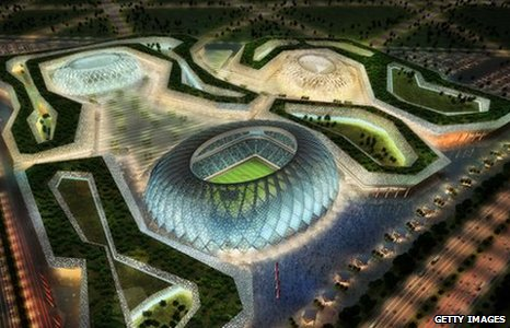 An artist's impression of one of the main 2022 World Cup complexes