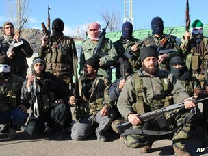 Free Syrian Army fighters in Zabadani (20 January 2012)