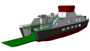 Computer generated image of the new battery-powered ferry