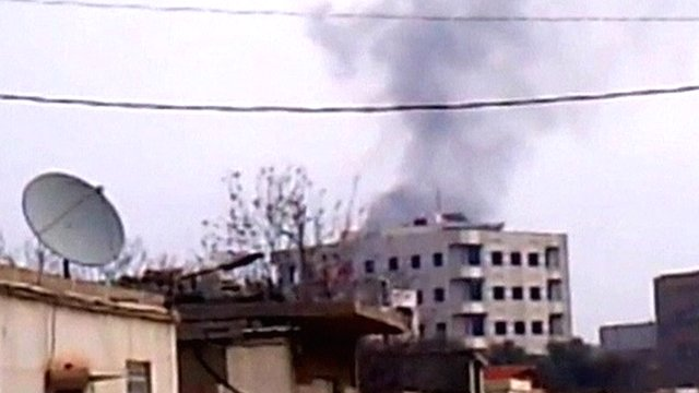 Bombardment on the outskirts of Damascus