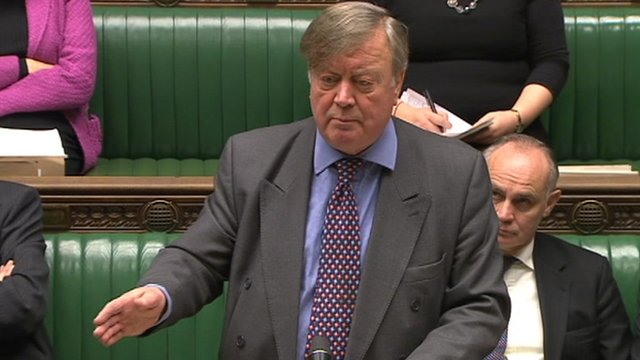 Ken Clarke speaking in the Commons