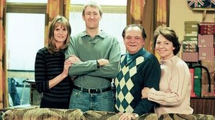 Gwyneth Strong, Nicholas Lyndhurst, David Jason and Tessa Peake-Jones in Only Fools And Horses