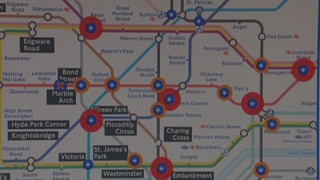 Website showing the predicted congestion on different days during the Games on the Tube network