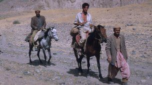 Ian Hedge on a horse in Afghanistan