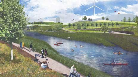 Artist's impression of the Olympic site