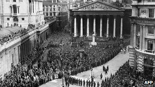The ceremony of the proclamation of Queen Elizabeth II's accession to the throne, 08 February 1952