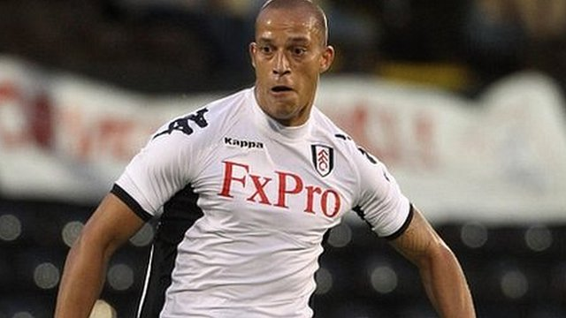 Bobby Zamora in action for Fulham