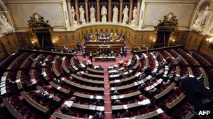 The French Senate votes on the genocide denial bill, 23 January