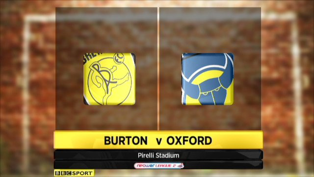 Burton Albion 1-1 Oxford Utd