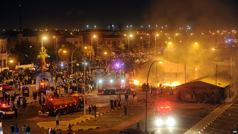 ... tent for candidate Mohammed al-Juwaihel burns down in Kuwait City