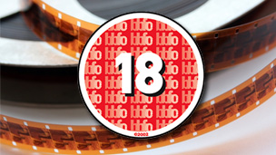 Stock image of cinefilm with a BBFC 18 certificate