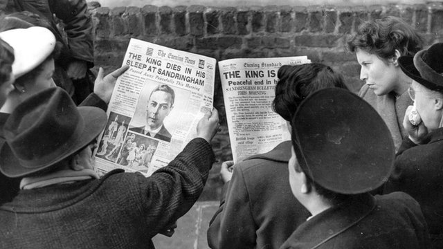 Londoners read of King George VI 's death