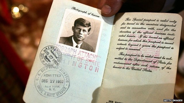John F Kennedy passport