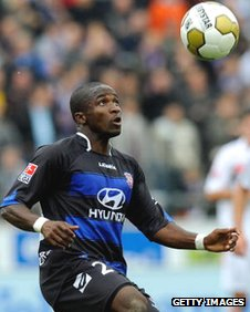 Pa Saikou Kujabi in action for Frankfurt