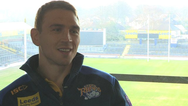 Leeds Rhinos' captain Kevin Sinfield