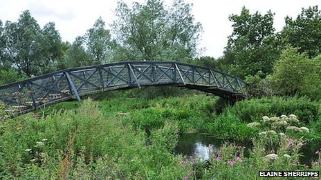 The Mathematical Bridge along the UEA Wildlife Trail