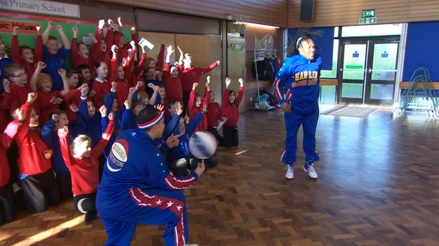 Harlem Globetrotters at Gleadless Primary School