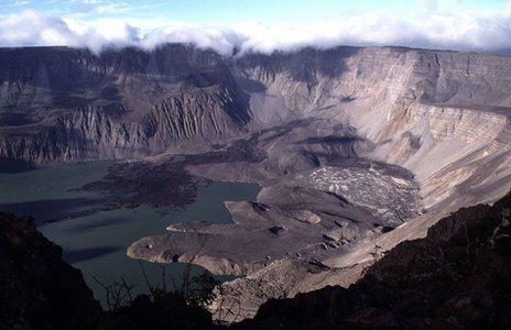 """A volcanic """"caldera"""" on the Galapagos Islands"""