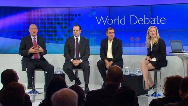 BBC World Debate in Davos