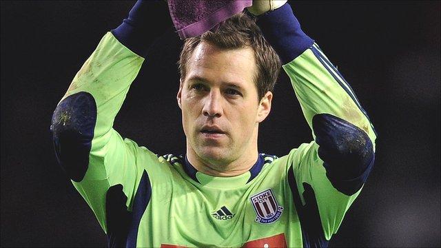 Stoke City goalkeeper Thomas Sorensen