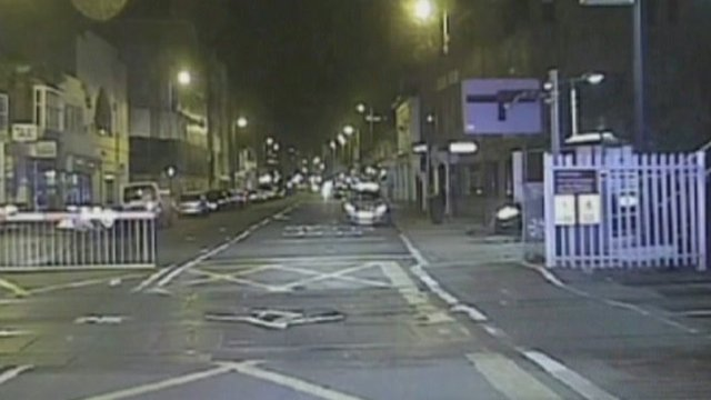 A still from the police pursuit tape